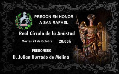 Pregón en Honor a San Rafael.
