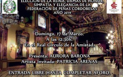 ELECCION REINA FEDERACION DE PEÑAS 2019